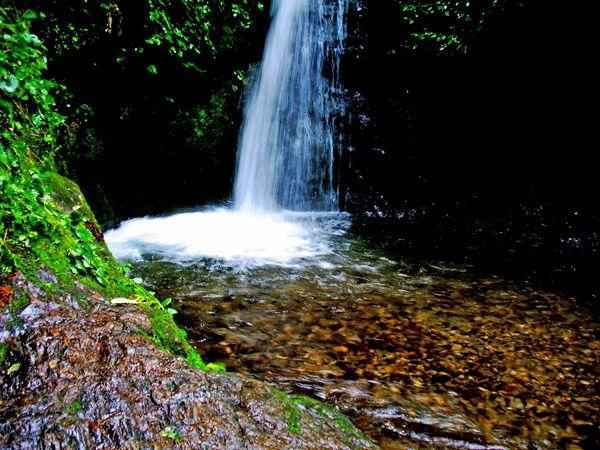 七代の滝の滝壺