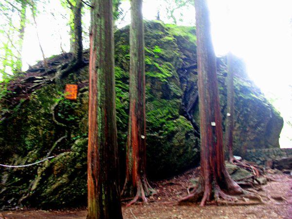 登山道側からの天狗岩