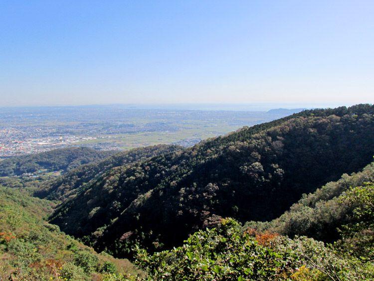聖峰から高取山への途中からの展望