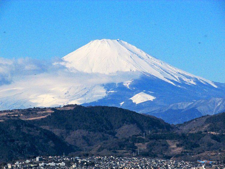 権現山展望台からの富士山(ズームアップ)
