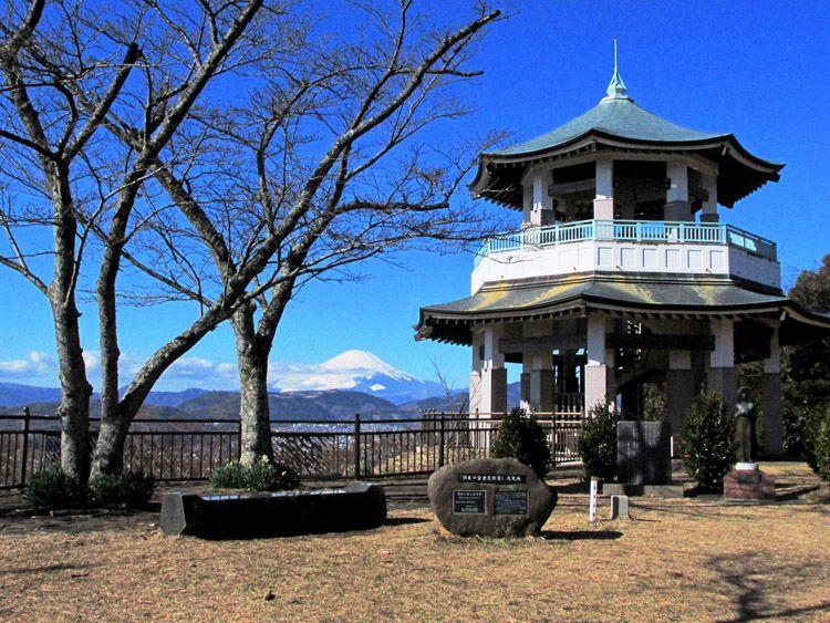 権現山からの富士山と展望台